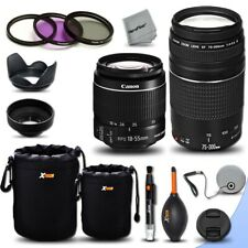Canon EF 75-300mm f/4-5.6 III +18-55mm f/3.5-5.6 III F/ Canon 70D 7D 60D 6D 5D
