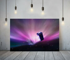 DOCTOR WHO 2- FRAMED CANVAS WALL ART CLASSIC SHOW PICTURE PAPER PRINT- PURPLE