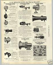 1937 PAPER AD Klaxon Car Auto Automobile Horn Horns Trio Penetone Sireno