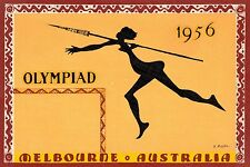 Olympics,Melboune Australia,1956,Poster Art