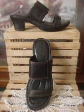 EUC~ BORN BLACK GLOVE LEATHER WIDE-STRAP QUALITY SANDALS ~LEATHER LINING~ SZ 8M