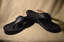 NEW Mens Size 10 Womens 12 Baya Crocs Blue Unisex Lightweight Flip Flop Sandals
