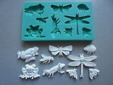 Silicone Mould INSECTS AND FROGS Sugarcraft Cake Decorating Fondant / fimo mold