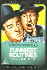 ABBOTT & COSTELLO Funniest Routines Volume 1 Brand New but UNSEALED  Region 2