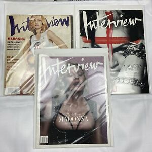 Lot of 3 Madonna Magazine Covers Interview March 2001 May 2010 Dec January 2015