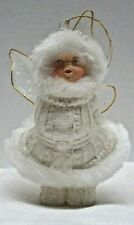 Vintage White Angel Christmas Ornament