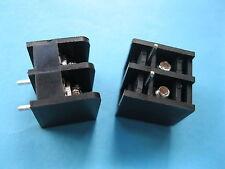 200 pcs Black 2 pin 6.35mm Screw Terminal Block Connector Barrier Type DC29B New