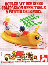 PUBLICITE ADVERTISING 055  1980  NATHAN  jeux jouets  L'ESCARGOT
