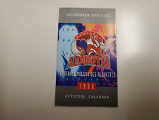 Rs20 Montreal Alouettes 1996 Cfl Football Pocket Schedule Grey - Molson Export