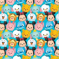 New! Disney Tsum Tsum Mickey & Friends Packed Cotton Fabric Yardage          I3