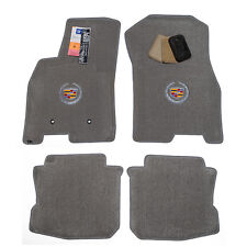 2008 - 2011 Cadillac DTS Sedan Light Grey Floor Mats - Crest Logos - USA Made