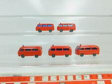 BO544-0,5 #5x Wiking H0 / 1:87 Fw Fire Service Model VW / Volkswagen T2,Very