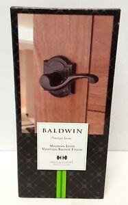 Baldwin Prestige Madrina Hall/Closet Lever in Venetian Bronze NEW Open Box