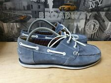 MAINE NEW ENGLAND MEN'S SUEDE BOAT SHOES SIZE UK 9 EUR 43
