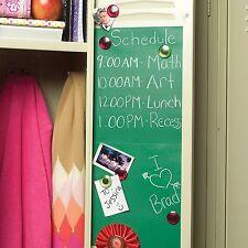 "Wallies Green Chalkboard Peel & Stick Wall Decals Chalk Included 4 Sheets 9x12"""