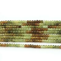AAA Natural Green Prehnite Faceted Rondelles Beads  Prehnite Beads 3mm-4mm 13 Green Palest Yellow Green Earth Mined Gemstone  Israil Cut