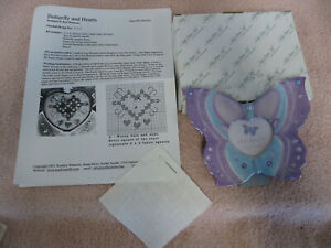 Nordic Needle BUTTERFLY & HEARTS Hardanger Embroidery Pattern & Frame