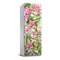 3D  Refrigerator Wall Kitchen Removable Sticker Magnet Flowers Tropical flowers