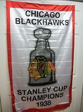CHICAGO BLACKHAWKS 1938 STANLEY CUP CHAMPIONS FLAG