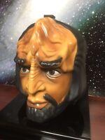 Star Trek: Next Generation Talking Worf Head Carrying Case Lunch Box