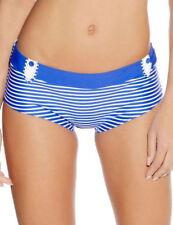 Abbigliamento blu a righe per il mare e la piscina da donna
