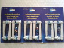 12 Tetes Brossettes Lot Pour Brosse a Dents Electrique Braun Oral B