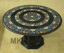 round coffee table handmade mosaic marble inlay floral