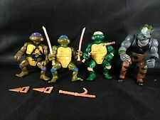 TMNT 1988 Lot of 4 Leo Mike Don Rocksteady Vintage Rare Ninja Turtles