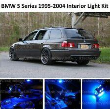 BLUE PREMIUM BMW 5 SERIES E39 ESTATE INTERIOR FULL LED BULBS LIGHT KIT SET