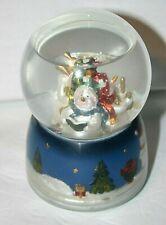 Christmas musical snow globe snowman caroling