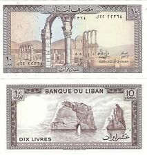 Lebanon 10 Livres 1986 P-63f UNC Uncirculated Banknote