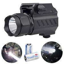 Tactical 8000LM 2Mode Pistol Gun Flashlight Torch Mount Light for Picatinny Rail