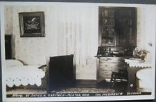 Home Of James A Garfield The Presidents Bedroom Mentor OH Real Photo Postcard
