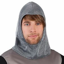 Mens Thrones Medieval Knight Chainmail Hood Helmet Coif Dragon Armour LARP Hat
