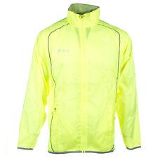 Precision Running  Mens Water Repellant Hi-Viz Jacket Coat Fluo Yellow- L(42-44)
