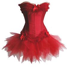Corsage Kleid Mini Rock Petticoat Korsett rot Wäschebeutel
