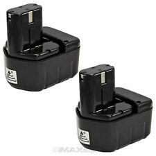 2 x 12V 2.0AH Ni-Cad Pod Style Battery for Hitachi EB1214S EB1212S EB1220BL