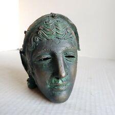 Vintage Roman Cavalry Ceremonial Mask Helmet Miniature Replica Bulgaria