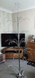 5 Tier 30 Branch 6.5 ft Mains Rotating Christmas Tree Style Metal Display Stand