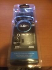 DIGITECH 3.0m Display Port to Display Port Male Cable - New & Sealed WQ7452
