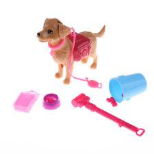 Plastic Dog Pet Sets Food Bones 1:6 Dollhouse Accessories Puppet Toy Fi