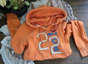 HOLLISTER Distressed Orange HCO CA 22 Hoodie Sweatshirt - Medium