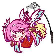 No Game No Life Jibril Pinch Tsumamare Phone Strap Dust Plug Keychain String