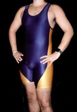 Blue and Yellow Matman Wrestling Singlet Medium