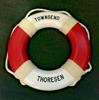 Ship's Miniature Life Preserver/ Saver /  Ring - Townsend Thoresen