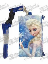Disney Frozen Key Chain Lanyard ID Holder Detachable Coin Purse [Royal Blue]