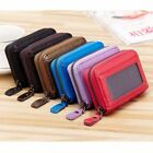 Woman Men Accordion Zipper Leather Wallet Credit Name Card Coin Money Holder bag