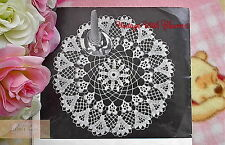 Vintage 60s Crochet Pattern Extraordinarily Beautiful 'Pansy' Doily FREE UK P&P
