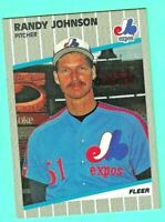Randy Johnson RC ERROR 1989 FLEER #381 | MARLBORO MAN VI$IBLE | RED | MINT
