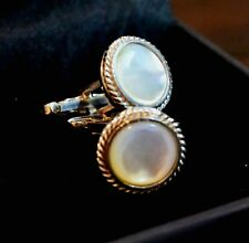 Quality Cuff links in 925 Sterling Silver with Natural Mother Of Pearl Gemstone